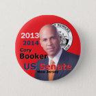 Booker Senate 2013 Pinback Button