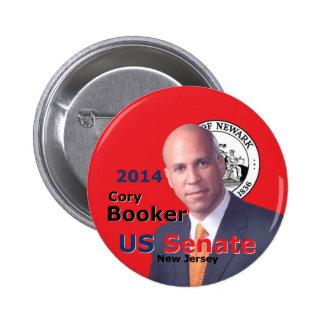 Booker Senate 2014 Pinback Button