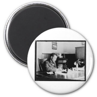 Booker T. Washington 2 Inch Round Magnet