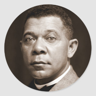 Booker T Washington, African American Civil Rights Classic Round Sticker