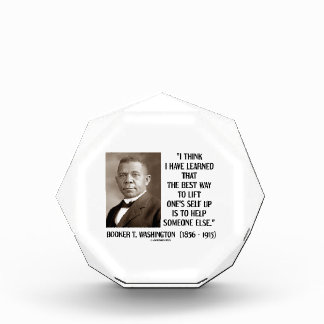 Booker T. Washington Best Way Lift One's Self Up Award