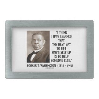 Booker T. Washington Best Way Lift One's Self Up Rectangular Belt Buckle