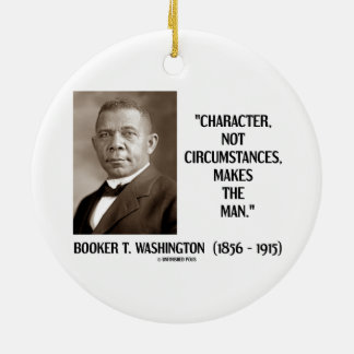 Booker T. Washington Character Not Circumstances Double-Sided Ceramic Round Christmas Ornament