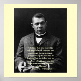 Booker T. Washington encouragement Posters