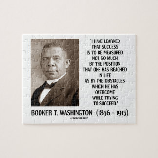 Booker T. Washington Obstacles Overcome Succeed Jigsaw Puzzle