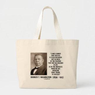 Booker T. Washington Obstacles Overcome Succeed Jumbo Tote Bag