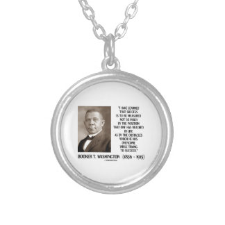 Booker T. Washington Obstacles Overcome Succeed Round Pendant Necklace