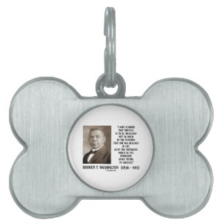 Booker T. Washington Obstacles Overcome Succeed Pet ID Tag