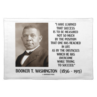 Booker T. Washington Obstacles Overcome Succeed Placemat