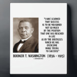 "Booker T. Washington Obstacles Overcome Succeed Plaque<br><div class=""desc"">Showcase your inspirational and motivational side with this intelligent quote on success by African American activist in the late 19th century, Booker T. Washington. Washington was of the last generation of black American leaders born into slavery and became the leading voice of the former slaves and their descendants, who were...</div>"
