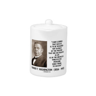Booker T. Washington Obstacles Overcome Succeed Teapot