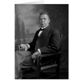 Booker T. Washington Portrait by Harris & Ewing Greeting Card