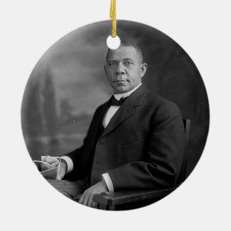 Booker T. Washington Portrait by Harris & Ewing Ceramic Ornament