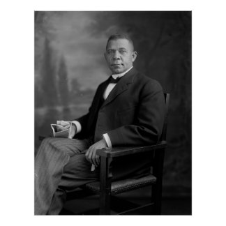 Booker T. Washington Portrait by Harris & Ewing Poster