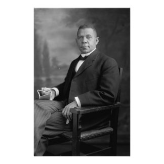Booker T. Washington Portrait by Harris & Ewing Stationery Design