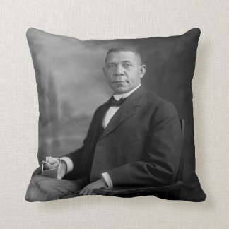 Booker T. Washington Portrait by Harris & Ewing Throw Pillow