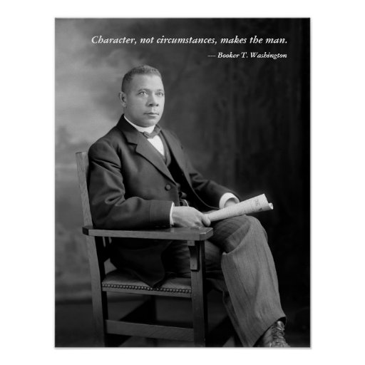 Booker T. Washington Quotation Poster