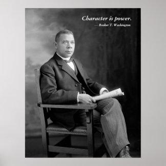 Booker T. Washington Quotation Poster