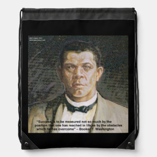 Booker T Washington & Success Quote Backpack