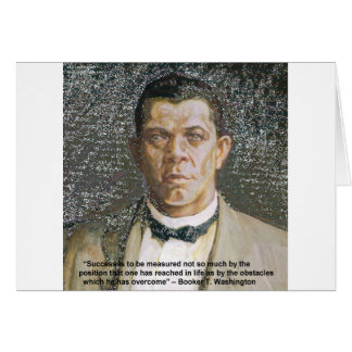 Booker T Washington Success Quote Greeting Card