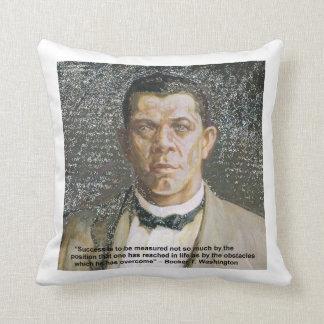 Booker T Washington & Success Quote Cotton Pillow