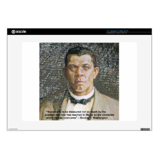 Booker T Washington & Success Quote Decals For Laptops