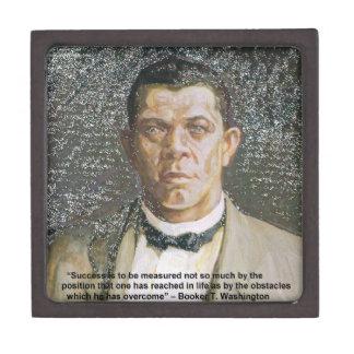 Booker T Washington & Success Quote Jewelry Box