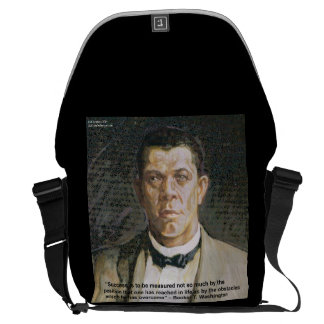 Booker T Washington & Success Quote Messenger Bag