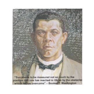 Booker T Washington & Success Quote Notepad
