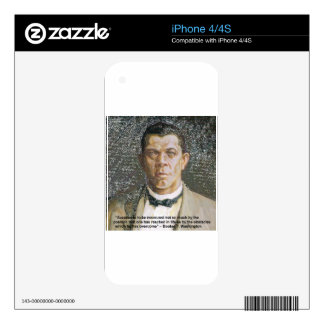 Booker T Washington & Success Quote Skin For The iPhone 4