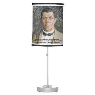 Booker T Washington & Success Quote Table Lamp