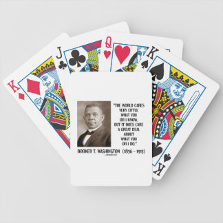 Booker T. Washington World Cares Very Little Great Bicycle Playing Cards