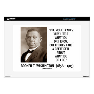 Booker T. Washington World Cares Very Little Great Laptop Decal