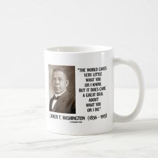 Booker T Washington World Cares Very Little Great Coffee Mug