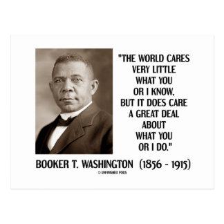 Booker T. Washington World Cares Very Little Great Postcard