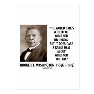 Booker T Washington World Cares Very Little Great Postcard