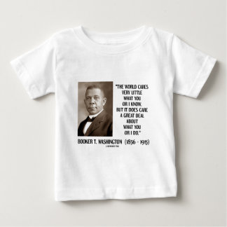 Booker T. Washington World Cares Very Little Great T-shirts
