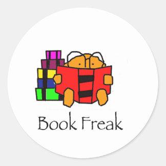 BookFreak Classic Round Sticker