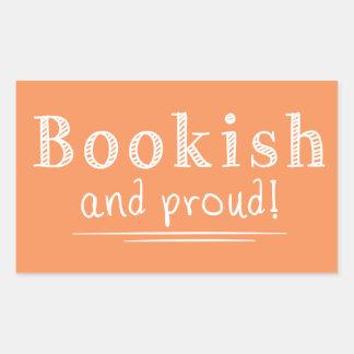 Bookish And Proud Rectangular Sticker