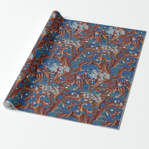 Bookish Antiquarian Marbled Wrapping Paper