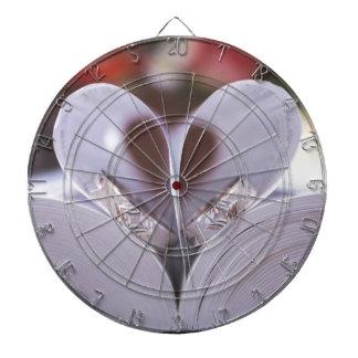 Bookish heart dartboard with darts