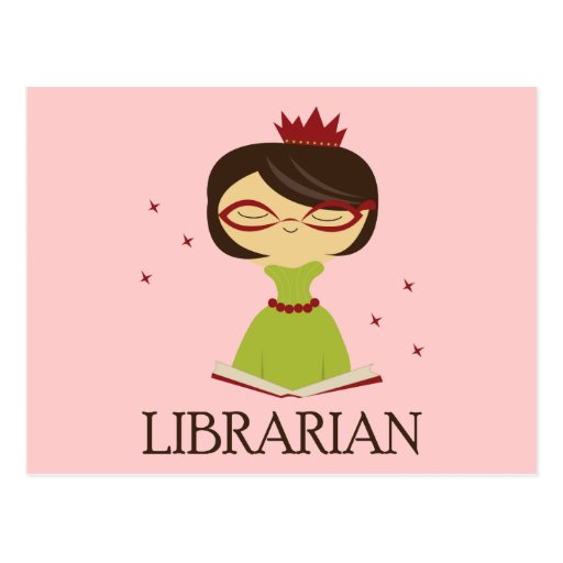 Bookish Librarian Library Gift Post Cards