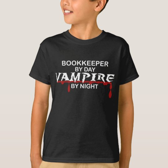 Bookkeeper by Day, Vampire by Night T-Shirt