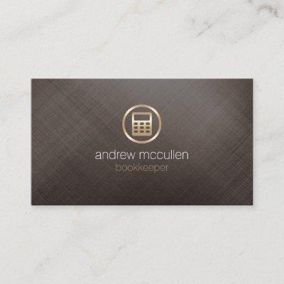 Gold calculator icon bookkeeper business card zazzle colourmoves