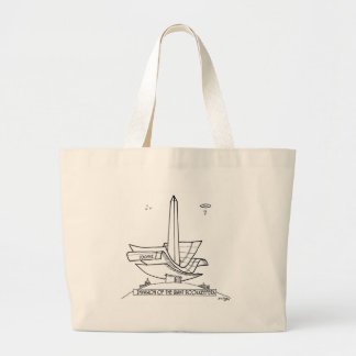 Bookkeeper Cartoon 2145 Large Tote Bag