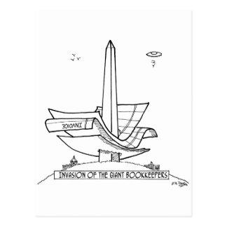 Bookkeeper Cartoon 2145 Postcard