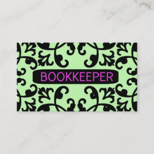 Bookkeeping business cards zazzle bookkeeper damask business card colourmoves