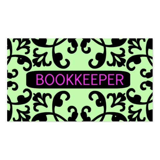 Bookkeeper Damask Business Card