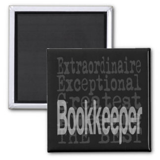 Bookkeeper Extraordinaire 2 Inch Square Magnet