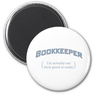 Bookkeeper - Math 2 Inch Round Magnet